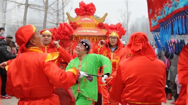 河北肃宁:民俗展演迎元宵