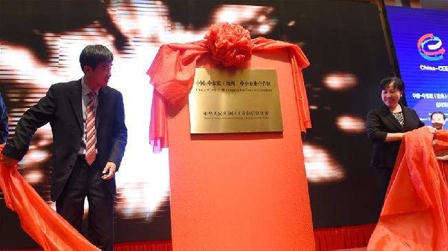 中国-中东欧中小企业合作区揭牌